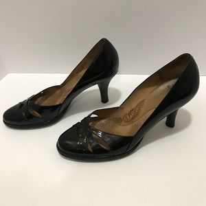 Sofft leather patent leather heels 9 black
